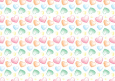 Seamless heart background in pastel colors. A background composition of hearts in cute colors Stock Images