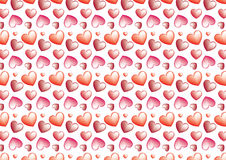 Seamless heart background in red. A seamless heart background in Red color theme Stock Image