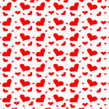 Seamless Heart Background. Vector Valentine`s Day hearts seamless pattern background with hand drawn elements Stock Photography