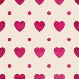 Seamless heart background Royalty Free Stock Photos
