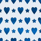 Seamless heart background Stock Image