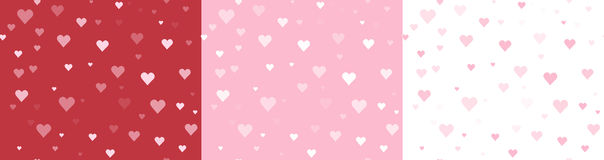 Seamless Heart Backgrounds Royalty Free Stock Images