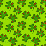 Seamless Heart Clovers Background. Clovers with hearts background Royalty Free Stock Images