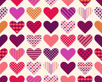 Seamless heart geometric background Royalty Free Stock Images