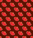 Seamless heart pattern. Stock Photo