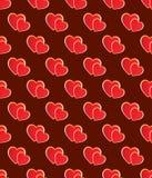 Seamless heart pattern. Stock Photo