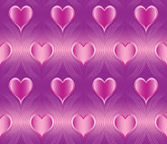 Seamless heart  pattern. Seamless, repeating hearts and lines pattern in four wedding colorways Royalty Free Stock Images