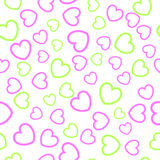 Seamless heart  pattern. Simple seamless heart pattern. Vector Stock Photo