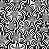 Seamless heart pattern. Retro black and white seamless heart background Royalty Free Stock Photography