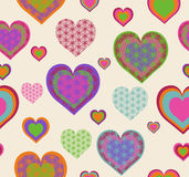 seamless heart pattern. Royalty Free Stock Photos