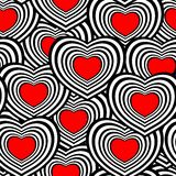 Seamless heart pattern Royalty Free Stock Image