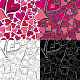 Seamless Heart Pattern. Hand drawn seamless heart pattern. Easy to Edit Stock Photo