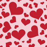 Seamless heart pattern. Seamless pattern of many hearts on pink background Royalty Free Stock Photo