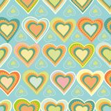 Seamless heart pattern Stock Photos