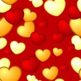 Seamless Heart Pattern Stock Image