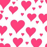 Seamless heart pattern Stock Photo