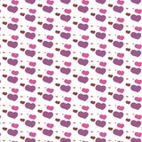 Seamless heart pattern background Stock Images