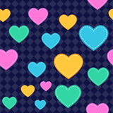 Seamless Heart Pattern Background. Assets are grouped on separate layers with a clipping path royalty free illustration