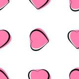 Seamless heart pattern background Stock Photos