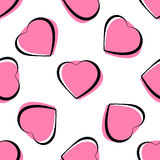 Seamless heart pattern background Royalty Free Stock Photography