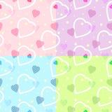 Seamless heart pattern for backgrounds / vector stock illustration