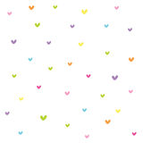 Seamless heart pattern. Seamless colorful heart pattern design Royalty Free Stock Image
