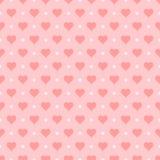Seamless heart pattern,  illustration. Seamless heart background,  illustration Stock Image