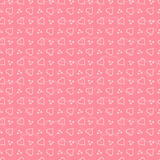 Seamless heart pattern,  illustration Stock Photo