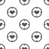 Seamless heart pattern. Love symbol from icon collection. Vector illustration on white background. Simple graphic design. Can be u. Sed in web and mobile Stock Photos