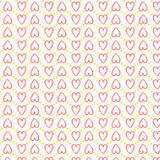 Seamless heart pattern love. In vector. Eps10 Royalty Free Stock Images