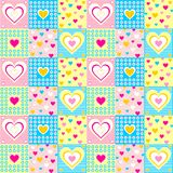 Seamless Heart Pattern. Made up of Heart themed tiles Stock Photography