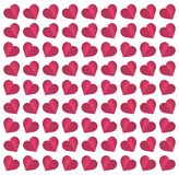 Seamless heart pattern paper art vector illustration
