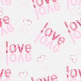 Seamless  heart pattern on paper texture. Stock Images