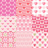Seamless heart pattern. In pink color Stock Illustration