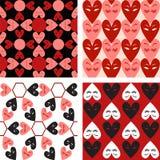 Seamless heart pattern set Royalty Free Stock Photography
