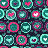 Seamless heart pattern for valentine's day Royalty Free Stock Image