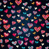 Seamless heart pattern for valentine's day Stock Images