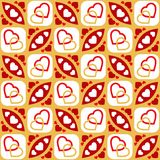 Seamless heart pattern - vector Royalty Free Stock Photos