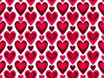 Seamless heart pattern vector. Retro seamless heart pattern  illustration Royalty Free Stock Photos