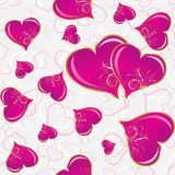 Seamless heart pattern, vector Royalty Free Stock Image