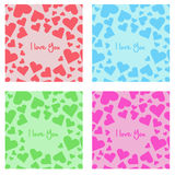 Seamless heart pattern Royalty Free Stock Photography