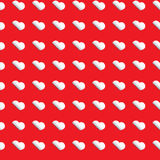 Seamless heart pattern - white hearts on red backg Royalty Free Stock Photos