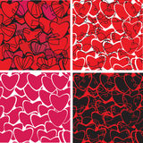 Seamless heart pattern for your design Stock Images