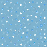 Seamless heart patterns with fabric texture stock illustration
