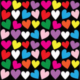 Seamless heart print background Stock Photography
