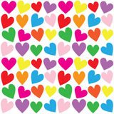 Seamless heart print background Royalty Free Stock Image