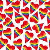 Seamless heart rainbow gay. Vector seamless heart rainbow gay Royalty Free Stock Images