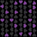 Seamless heart repeat pattern floating with dots. And colours Stock Images