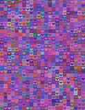 Seamless heart shape image-violet spectrum Royalty Free Stock Photo