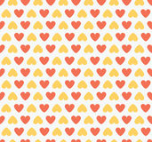 Seamless Heart Shape Pattern Red Royalty Free Stock Image